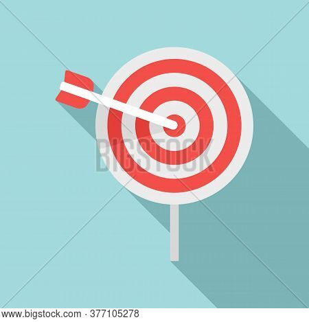 Remarketing Target Icon. Flat Illustration Of Remarketing Target Vector Icon For Web Design