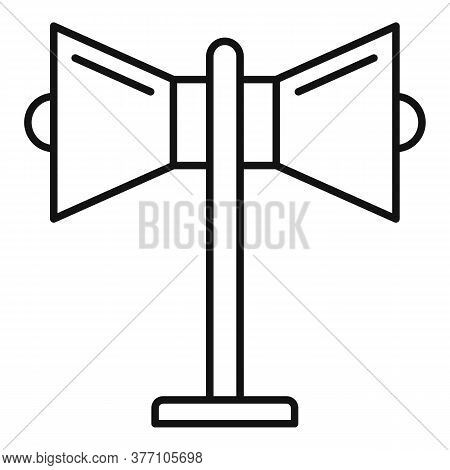 Remarketing Megaphone Icon. Outline Remarketing Megaphone Vector Icon For Web Design Isolated On Whi