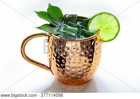 Moscow Mule Mug Drink On A White Background