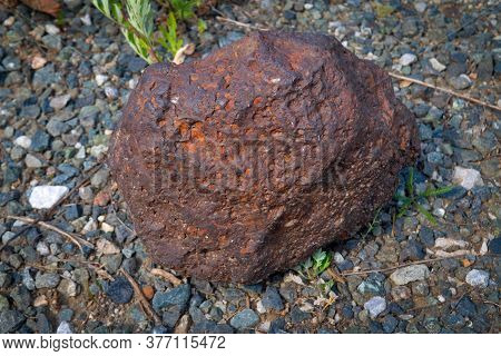 Iron Ore Lies On The Surface Of The Earth Near The Mine.