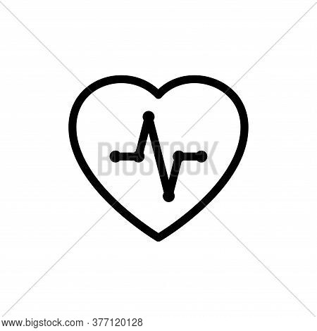 Illustration Vector Graphic Of Heart Pulse Icon