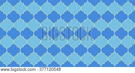 Seamless Moroccan Design Eid Mubarak Islam Background. Seamless Moroccan Mosaic Texture. Ramadan Kar