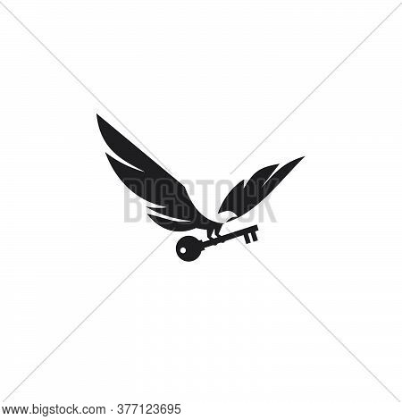 Flying Black Falcon Is Bringing Key Vector Design Template