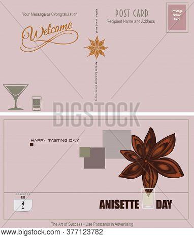 Postcard Anisette Tasting Invitation. Anisette Day Is July 2.