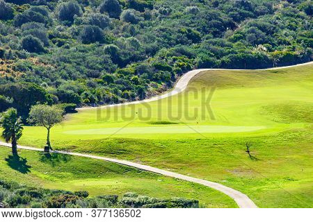 Green Golf Course In Sotogrande, Andalusia Spain