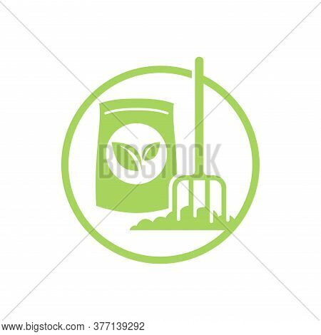 Organic Fertilizer Icon - Farming Agriculture Useful Component - Naturally Occurring Organic Animal