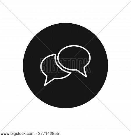 Speech Bubble Icon Isolated On White Background. Speech Bubble Icon In Trendy Design Style For Web S