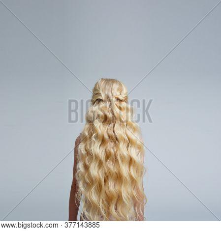 Beautiful long natural hair. Blond hair.