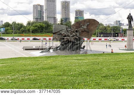 07 19 2020 Russia, Moscow, Victory Park. A Monument To The Russian Heroes Of The War Of 1914-1918.