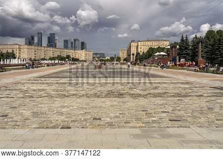 07 19 2020 Russia, Moscow, Victory Park On Poklonnaya Gora In Moscow