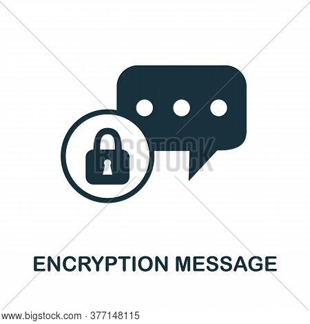 Encryption Message Icon. Simple Element From Internet Security Collection. Creative Encryption Messa