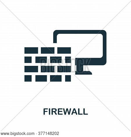 Firewall Icon. Simple Element From Internet Security Collection. Creative Firewall Icon For Web Desi