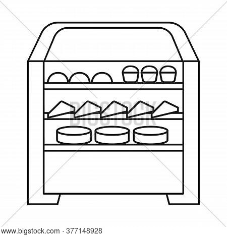 Vector Design Of Oven And Kitchen Icon. Collection Of Oven And Food Stock Vector Illustration.