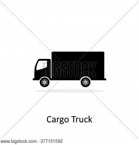 Cargo Truck Icon Isolated On White Background. Cargo Truck Icon Flat. Cargo Truck Icon Simple Sign,