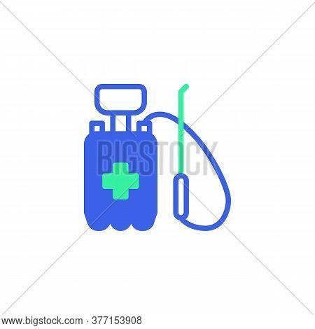 Antibacterial Pressure Sprayer Icon Vector, Filled Flat Sign, Bicolor Pictogram, Medical Disinfectan