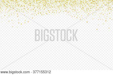 Gold Shine Paper Transparent Background. Falling Rain Wallpaper. Golden Triangle Modern Design. Shar