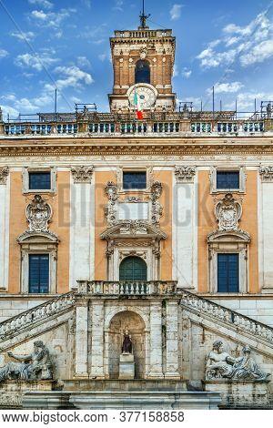 Senators Palace (palazzo Senatorio) - Palace, Located In The Piazza Del Campidoglio, On Capitol Hill