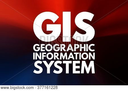 Gis - Geographic Information System Acronym, Concept Background
