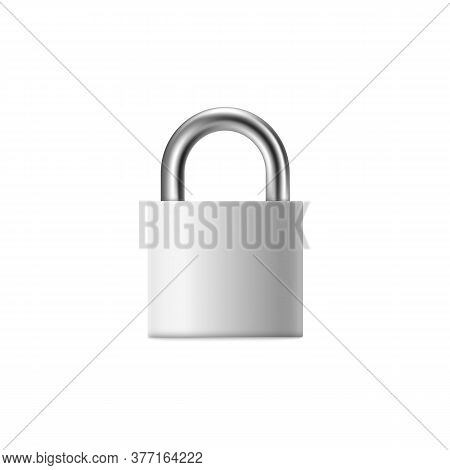 Fastened Padlock Or Lock Icon, 3d Realistic Vector Mockup Illustration Isolated.