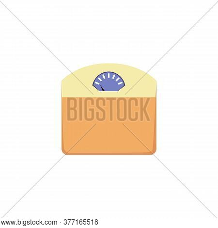 Body Floor Standing Weighing Scales Icon, Flat Vector Illustration Isolated.