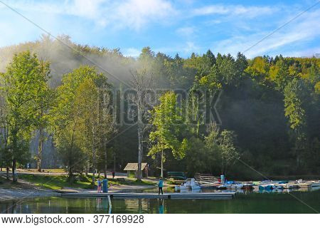 View Of Scenic Bohinj Lake, Located Within The Bohinj Valley Of The Julian Alps
