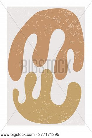 Matisse Inspired Contemporary Collage Poster With Abstract Organic Shapes