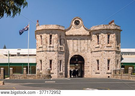 An image of the entrance to the prison at Fremantle Perth Western Australia