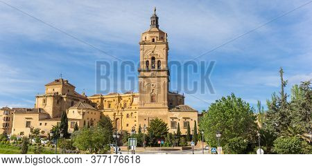Panorama Of The Historic Cathedral Of Guadix, Spain