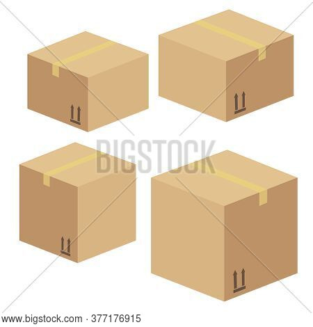Delivery And Packing Box. Delivery Warehouse Pack