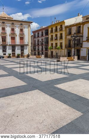 Plaza Espana Square In The Historic Center Of Lorca, Spain