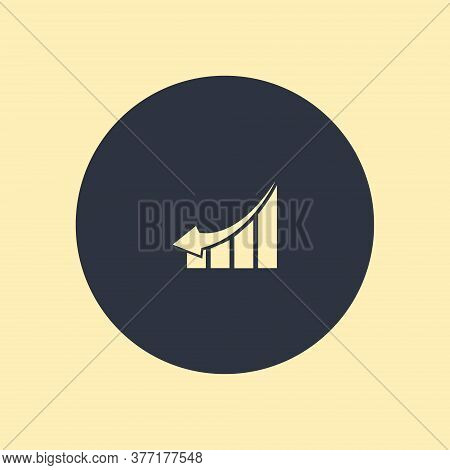 Chart Icon. Arrow Down Icon. Vector Symbol On Round Background