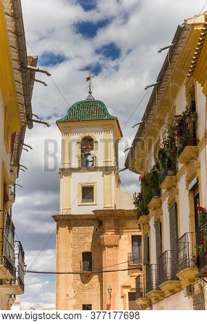Church Tower And Houses In Historic City Lorca, Spain