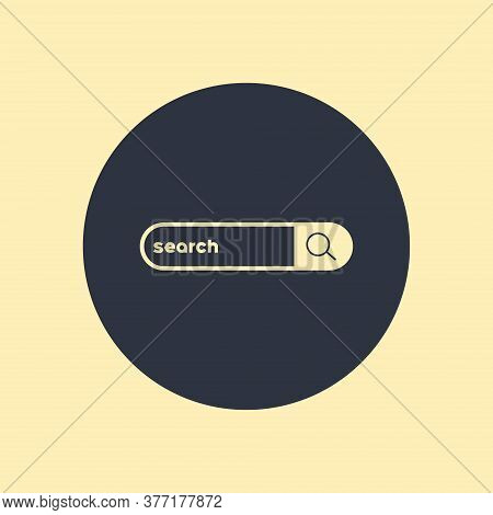 Icon Vector Illustration Showing A Couple Of Options For Search Bars, One With A Pair Of Binoculars