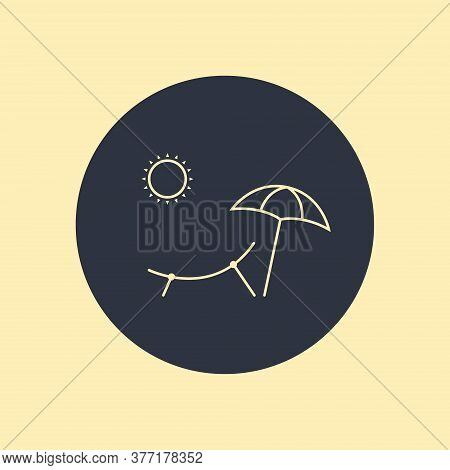 Summer Concept Icon. Vector Symbol On Round Background