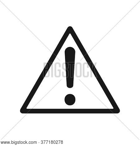 Attention Sign. Danger, Warning, Hazard Symbol. Isolated Triangle With Exclamation Sign On White Bac