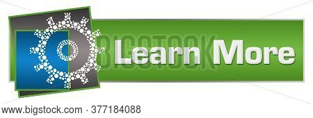 Learn More Text Written Over Green Blue Background.