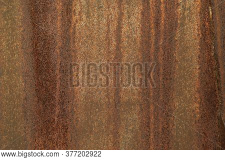 Metal Surface With Iron Rust Grunge Rusty Texture And Background.