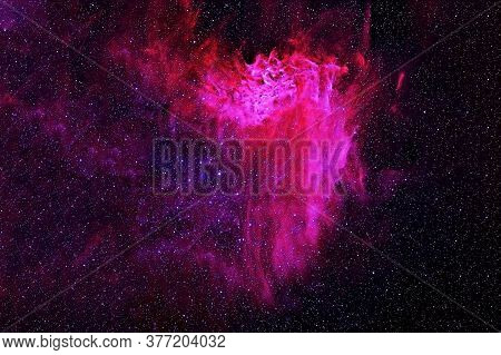 Red Space Nebula. Elements Of This Image Were Furnished By Nasa.