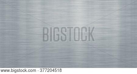brushed metal steel or aluminum wide  plate banner background illustration