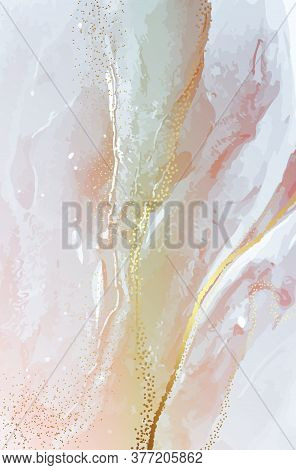 Watercolor Abstract Paink, Marble Ivory Abstract Blush Rose Gold Lcohol Ink Flow, Liquid Ink Splash