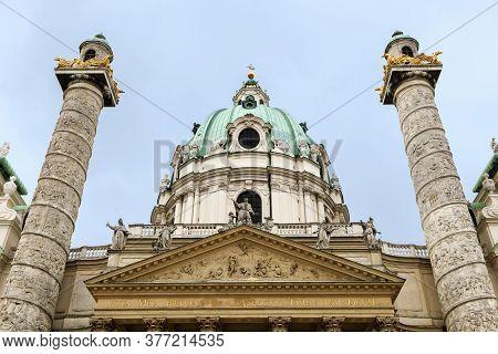 St Charless Church - Karlskirche - In Wien, Austria