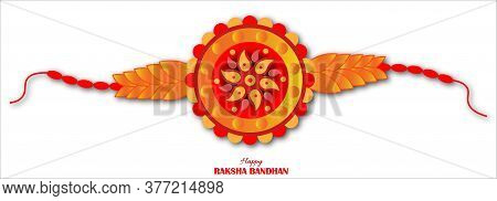 Vector Illustration For Rakhi Festival Background Design With Creative Rakhi Illustration, Indian Re