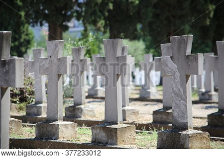 Zeitenlik Is An Allied Military Cemetery And World War I Memorial Park In Thessaloniki, The Largest