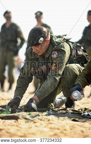 Russia, St. Petersburg, 29,07,2012 Demonstrative Performance Of The Marine Corps
