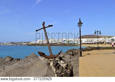 Playa Blanca, Lanzarote, Canary Islands, Spain - September 17, 2019 : Tourists In Playa Blanca In La
