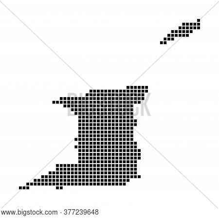Trinidad And Tobago Map. Map Of Trinidad And Tobago In Dotted Style. Borders Of The Country Filled W