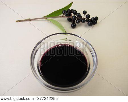 Black Violet Ink Made From Privet Berries