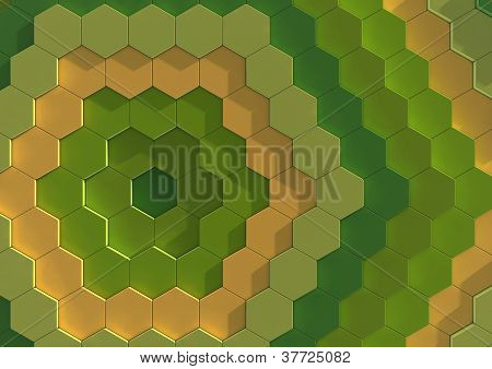 Abstract background image of multi coloured tiles
