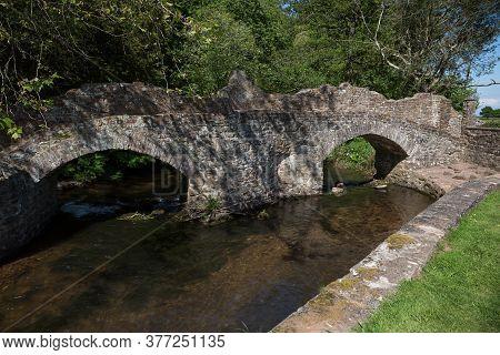 Lovers Bridge Over The River Avill In The Exmoor Town Of Dunster, Somerset Uk
