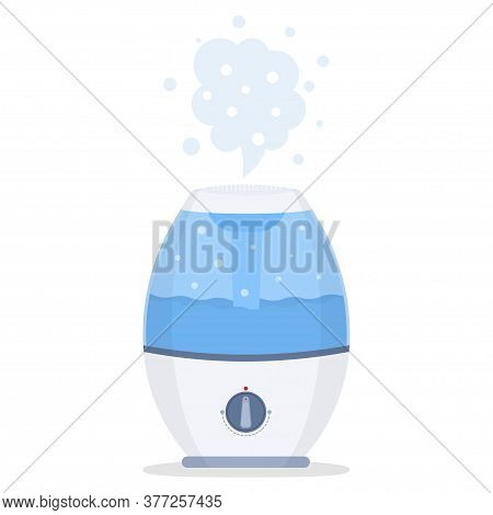 Humidifier For Home. Ultrasonic Humidifier Air Diffuser. Vector Illustration